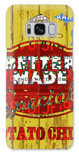 Potato Galaxy Case - Better Made Potato Chips Michigan License Plate Art by Design Turnpike