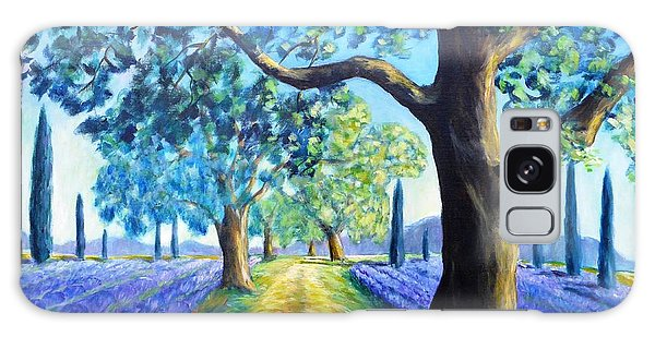 Between The Lavender Fields Galaxy Case