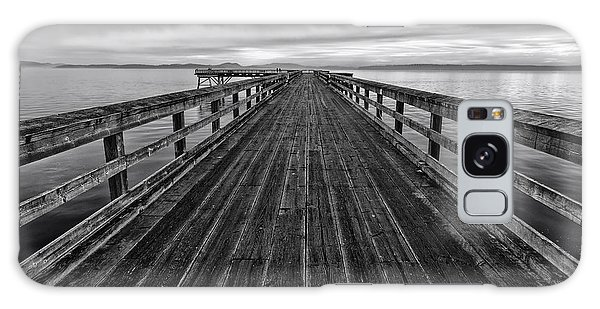 Bevan Fishing Pier - Black And White Galaxy Case