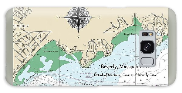 Beverly Cove Nautical Map Galaxy Case