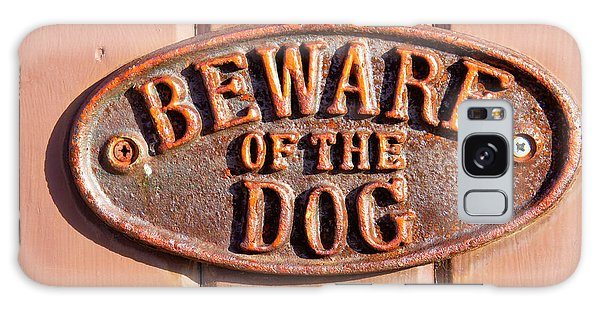 Rusty Chain Galaxy Case - Beware Of The Dog by Tom Gowanlock