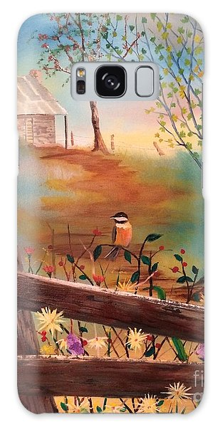 Galaxy Case featuring the painting Beyond The Gate by Denise Tomasura