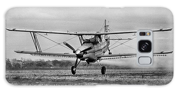 Bi-winged Crop Duster B N W Galaxy Case