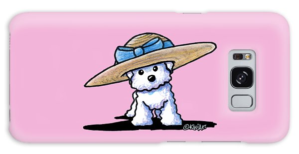 Bichon In Hat Galaxy Case