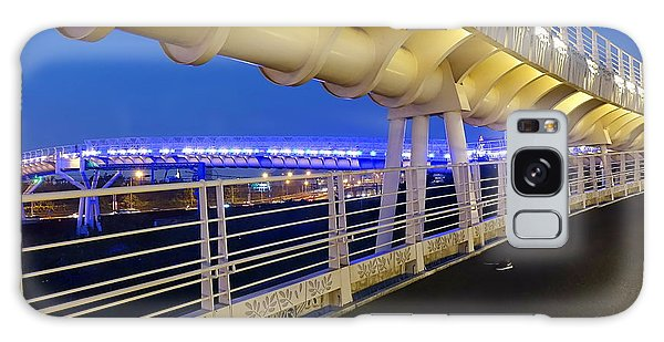 Bicycle And Pedestrian Overpass Galaxy Case by Yali Shi