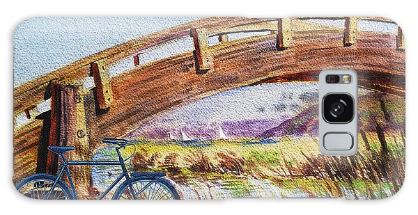 Outdoor Dining Galaxy Case - Bicycle Bridge Marina  by Irina Sztukowski