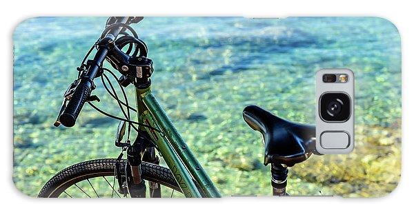 Bicycle By The Adriatic, Rovinj, Istria, Croatia Galaxy Case