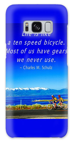 Bicycle Charles M Schulz Quote Galaxy Case
