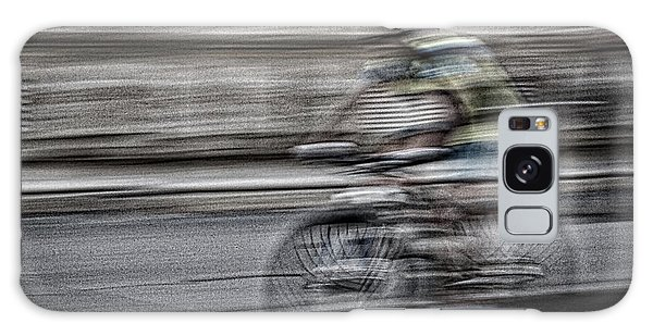 Bicycle Rider Abstract Galaxy Case