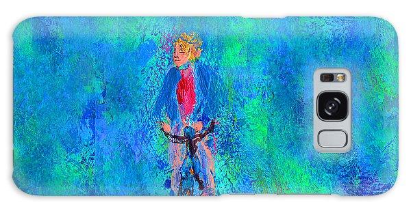 Bicycle Rider Galaxy Case