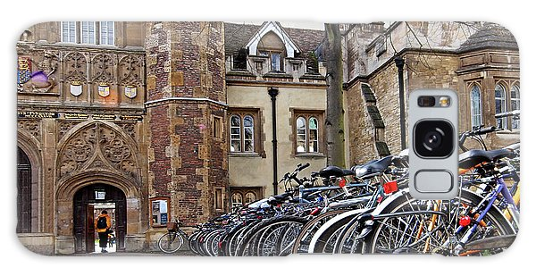 Bicycles At Trinity College Cambridge Galaxy Case by Gill Billington
