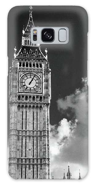 Big Ben And Clouds Bw Galaxy Case