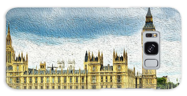 Big Ben And Houses Of Parliament With Thames River Galaxy Case