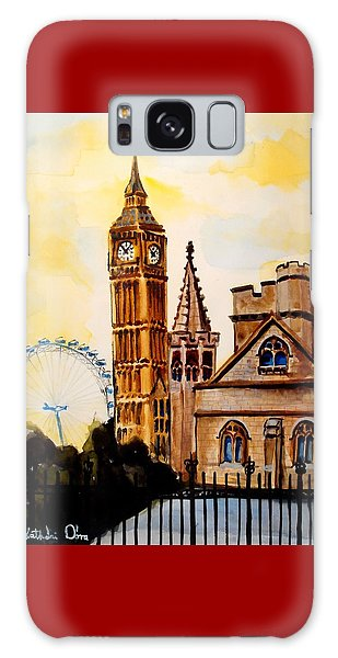 Big Ben And London Eye - Art By Dora Hathazi Mendes Galaxy Case by Dora Hathazi Mendes