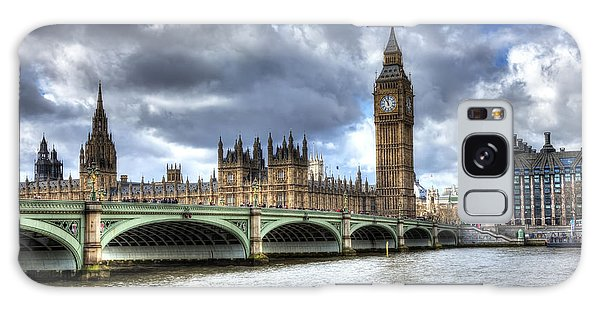 Big Ben And Thames Galaxy Case by Shawn Everhart