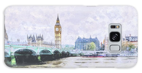 Big Ben And Westminster Bridge London England Galaxy Case