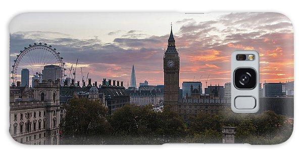 Big Ben London Sunrise Galaxy Case by Mike Reid