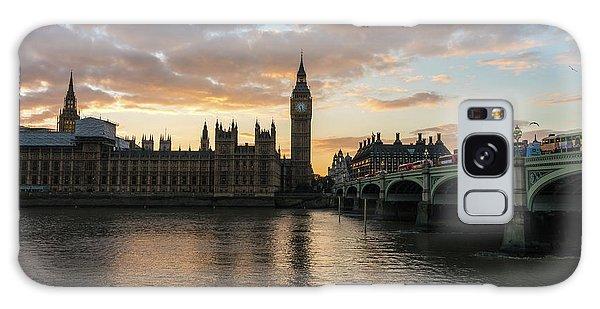 London Eye Galaxy Case - Big Ben London Sunset by Mike Reid