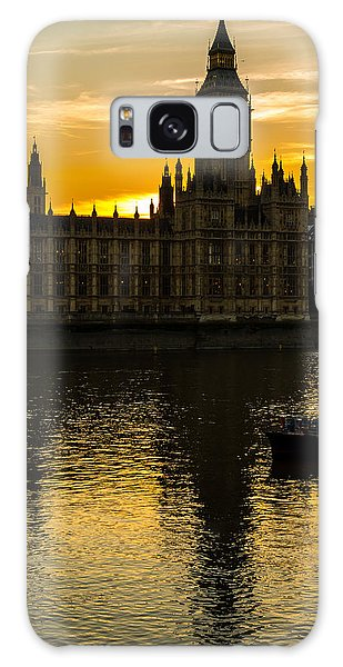 Big Ben Tower Golden Hour In London Galaxy Case