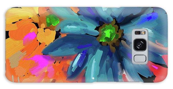 Big Blue Flower Galaxy Case