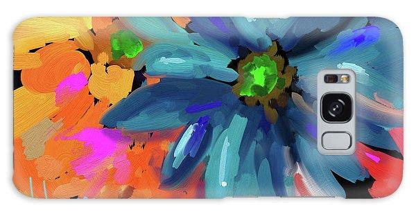 Big Blue Flower Galaxy Case by DC Langer