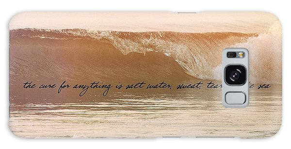Big Blue Ocean Quote Galaxy Case by JAMART Photography