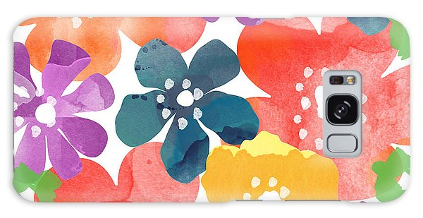 Forest Galaxy Case - Big Bright Flowers by Linda Woods