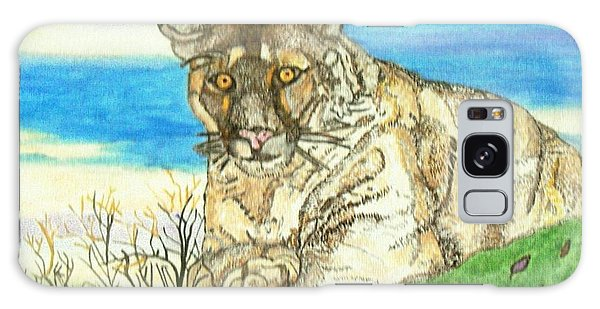 Big Cat Watching Out For Prey Galaxy Case by Connie Valasco