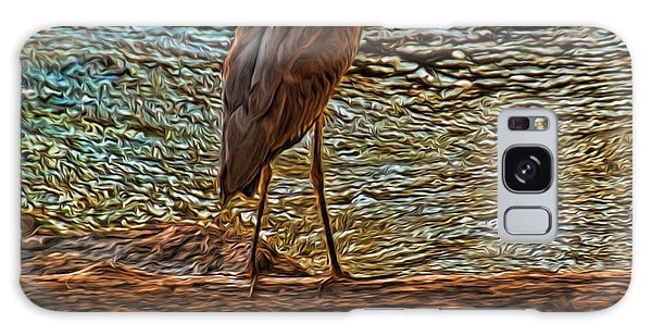 Big Falls Blue Heron Galaxy Case by Trey Foerster