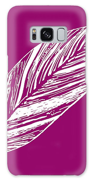 Big Ginger Leaf - Magenta Galaxy Case