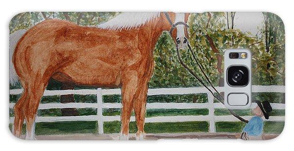 Big Horse  Little Fella  Galaxy Case