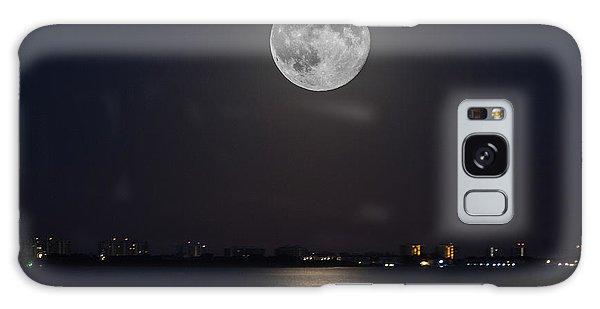 Big Moon Over The Bay Galaxy Case