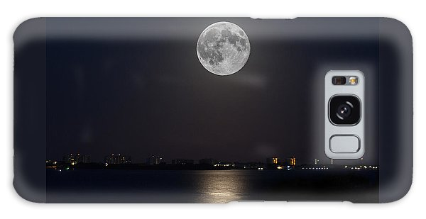 Big Moon Over The Bay Galaxy Case