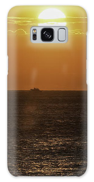 Big Ocean Small Boat Galaxy Case by Jim Moore