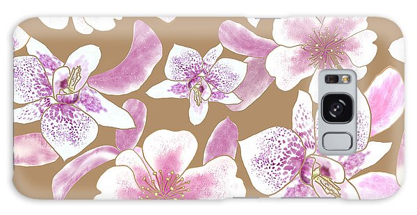 Big Orchids 3 Iced Coffee Galaxy Case