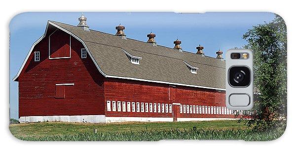 Big Red Barn In Spring Galaxy Case