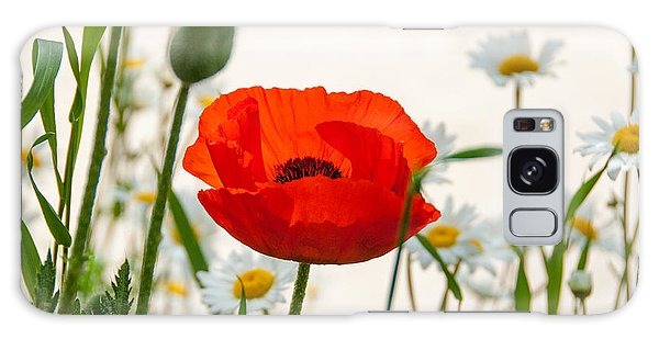 Big Red Poppy Galaxy Case
