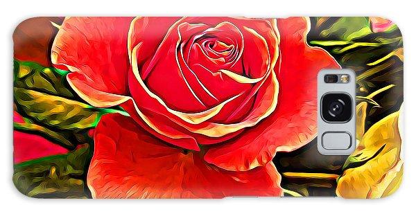 Big Red Rose Galaxy Case