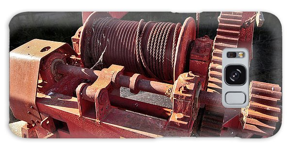 Galaxy Case featuring the photograph Big Red Winch by Stephen Mitchell