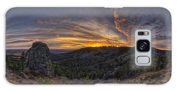 Mountain Sunset Galaxy S8 Case - Big Rock Panorama by Mark Kiver