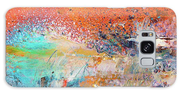 Big Shot - Orange And Blue Colorful Happy Abstract Art Painting Galaxy Case