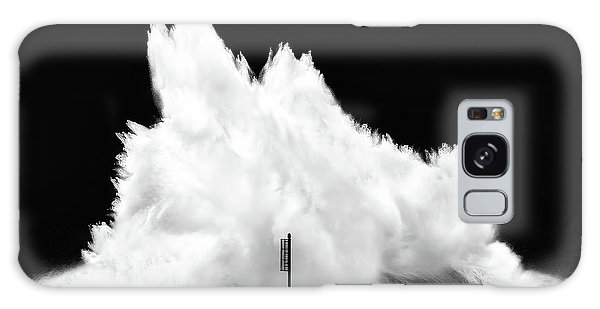 Big Wave Breaking On Breakwater Galaxy Case