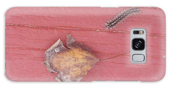 Bigger Than Me Caterpillar Leaf Galaxy Case