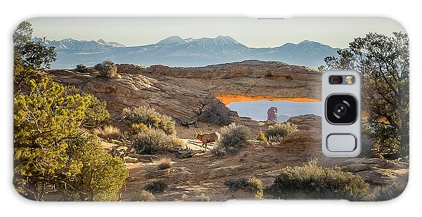 Bighorn Sheep And Mesa Arch Galaxy Case