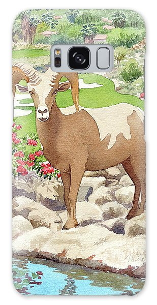 Bighorn Sheep On Golf Course Galaxy Case