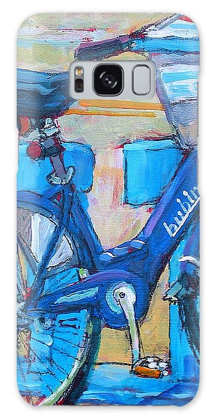 Bike Bubbler Galaxy Case by Les Leffingwell