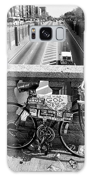 Galaxy Case featuring the photograph Bike Grand Concourse Bronx by Dave Beckerman