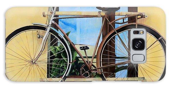 Bike In The Window Galaxy Case