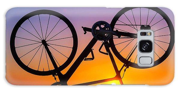 Bike Galaxy Case - Bike On Seawall by Garry Gay