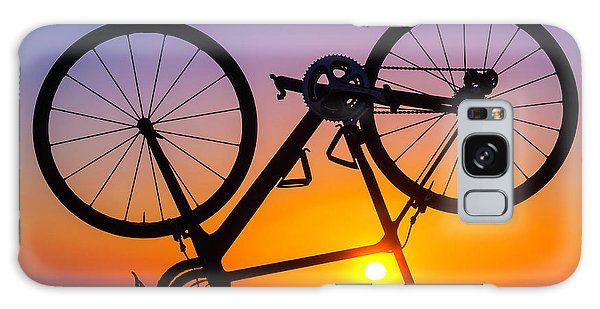 Bicycle Galaxy Case - Bike On Seawall by Garry Gay